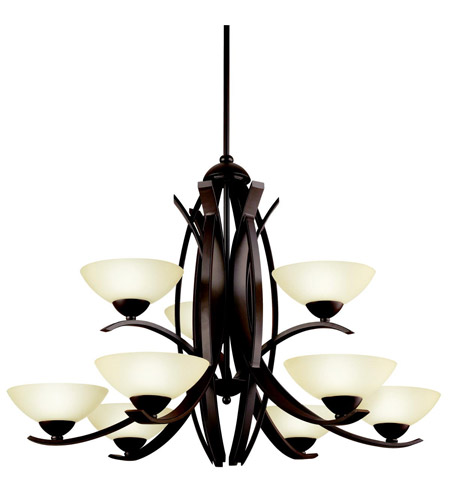Kichler Lighting Bellamy 9 Light Chandelier in Olde Bronze 42160OZ photo