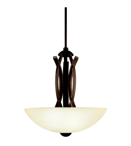 Kichler Lighting Bellamy 3 Light Inverted Pendant in Olde Bronze 42161OZ