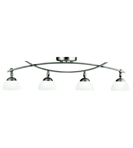 Kichler 42164AP Bellamy 4 Light Antique Pewter Rail Light Ceiling Light, MR16 photo