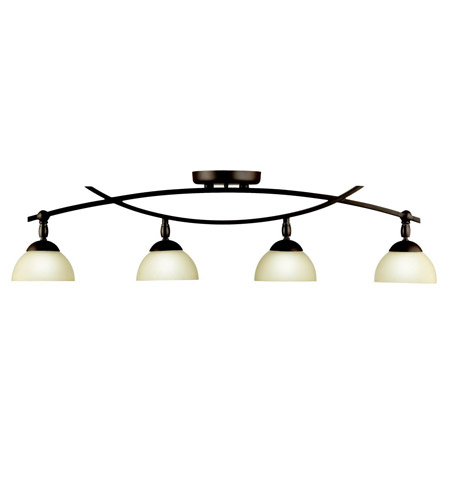 Kichler 42164OZ Bellamy 4 Light Olde Bronze Rail Light Ceiling Light, MR16 photo