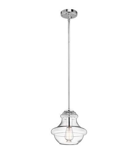 Kichler Everly 1 Light Pendant in Chrome 42167CHCLR photo