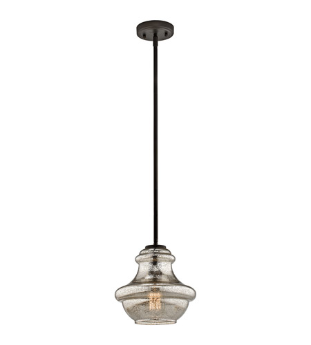 Kichler 42167OZMER Everly 1 Light 10 inch Olde Bronze Pendant Ceiling Light photo