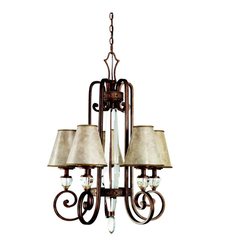 Kichler Lighting Hanna 5 Light Chandelier in Heritage Bronze 42169HB photo