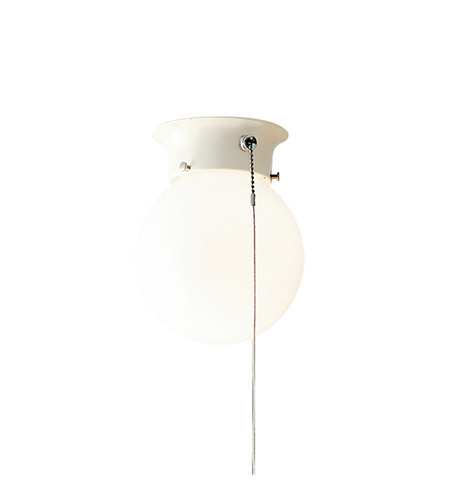Kichler Lighting Ceiling Space 1 Light Flush Mount in White 4216WH