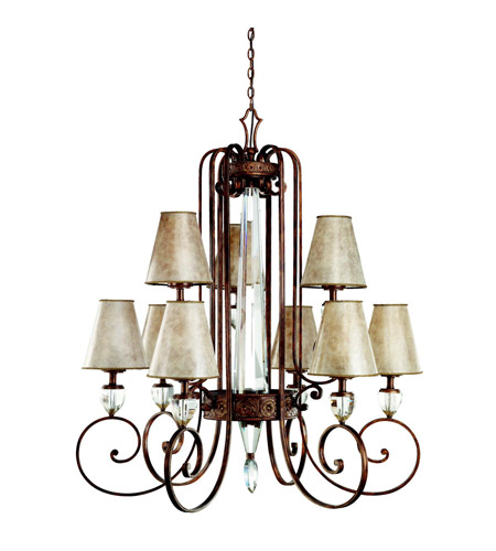 Kichler Lighting Hanna 9 Light Chandelier in Heritage Bronze 42171HB