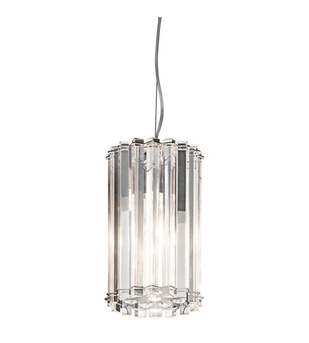 Kichler 42174CH Crystal Skye 1 Light 7 inch Chrome Mini Pendant Ceiling Light photo