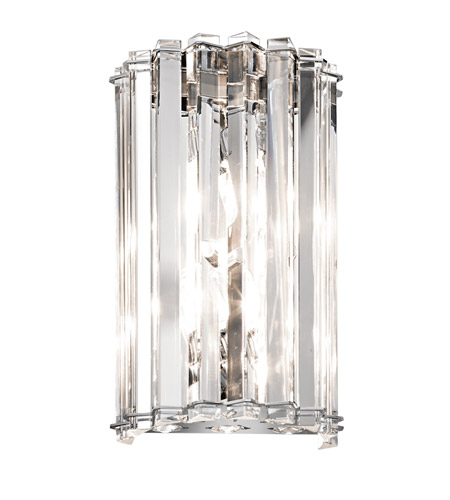 Kichler Lighting Crystal Skye 2 Light Wall Sconce in Chrome 42175CH