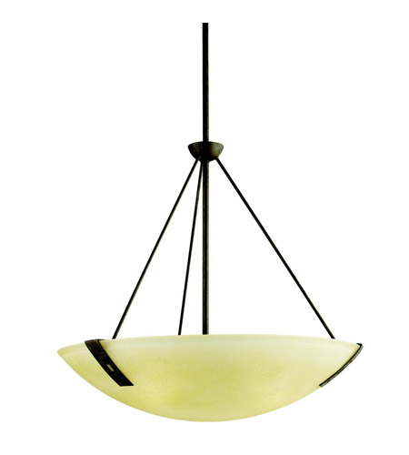 Kichler Lighting Montara 3 Light Inverted Pendant in Old Iron 42180OI photo