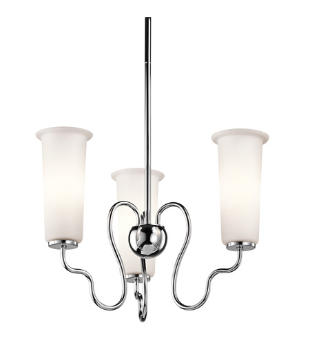 Kichler Lighting Nuwave 3 Light Chandelier in Chrome 42181CH photo