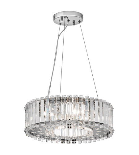 Kichler Lighting Crystal Skye 6 Light Chandelier in Chrome 42194CH