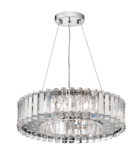 Kichler 42195CH Crystal Skye 8 Light 21 inch Chrome Chandelier Ceiling Light photo