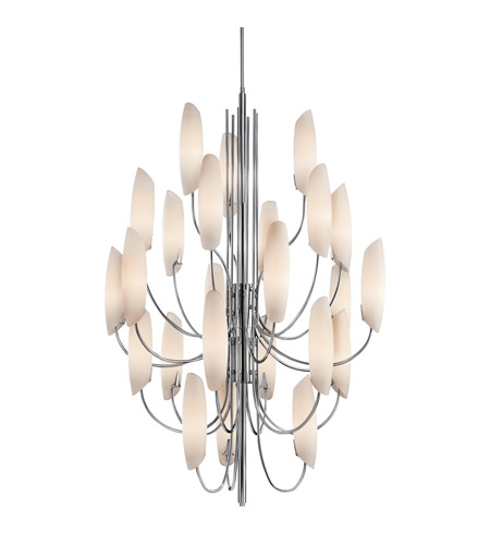 Kichler 42214CH Stella 24 Light 36 inch Chrome Foyer Chandelier Ceiling Light photo