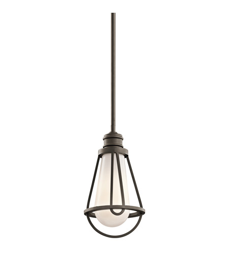 Kichler Lighting Saddler 1 Light Mini Pendant in Olde Bronze 42225OZ