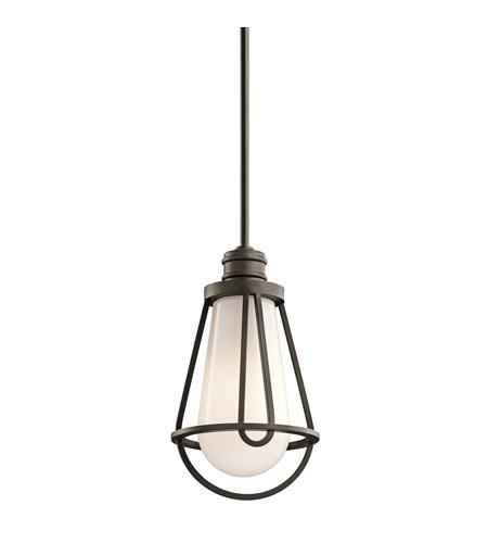 Kichler Lighting Saddler 1 Light Mini Pendant in Olde Bronze 42226OZ