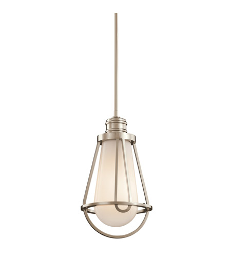 Kichler Lighting Saddler 1 Light Mini Pendant in Polished Nickel 42226PN
