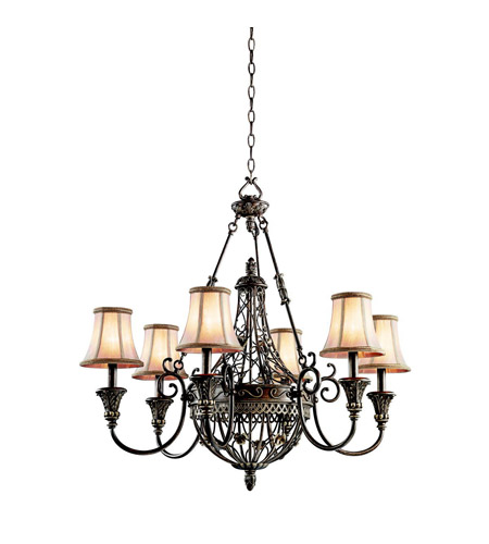 Kichler Lighting Marchesa 6 Light Chandelier in Terrene Bronze 42227TRZ photo