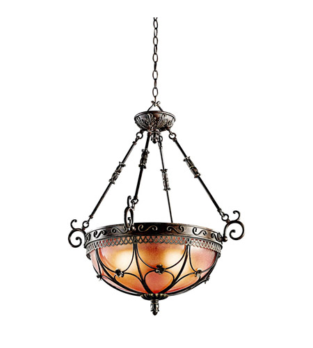 Kichler Lighting Marchesa 3 Light Inverted Pendant in Terrene Bronze 42229TRZ photo