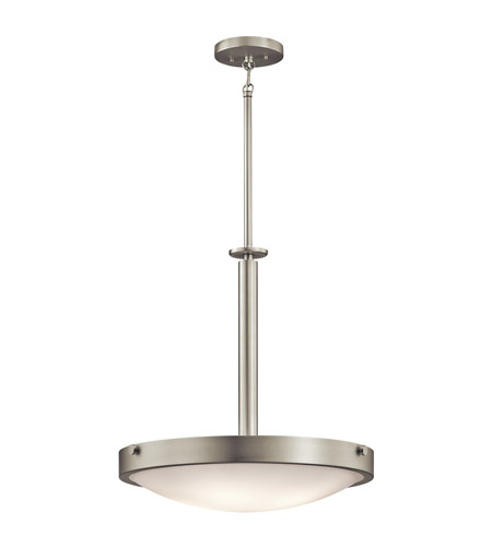Kichler Lighting Lytham 4 Light Inverted Pendant in Brushed Nickel 42244NI