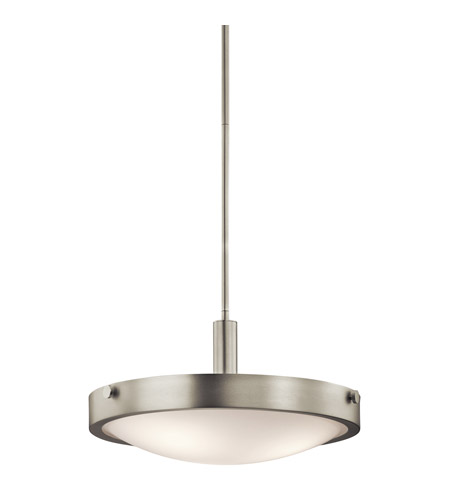 Kichler Lighting Lytham 3 Light Semi-Flush Mount in Brushed Nickel 42245NI