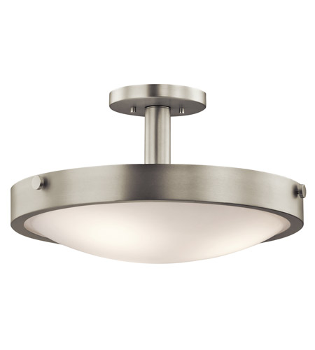 Kichler 42245NI Lytham 3 Light 18 inch Brushed Nickel Convertible Semi-Flush Mount Ceiling Light photo