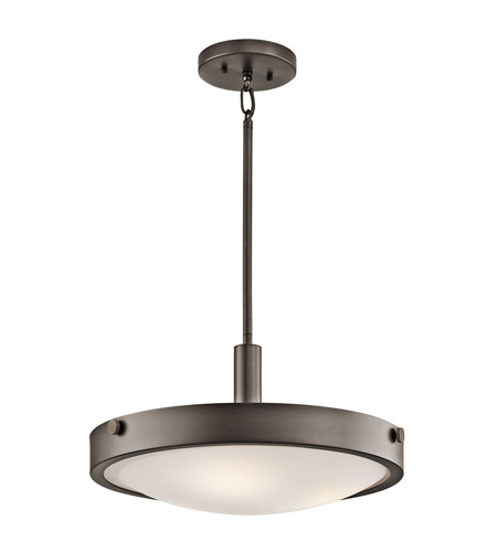 Kichler Lighting Lytham 3 Light Semi-Flush Mount in Olde Bronze 42245OZ