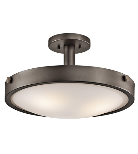 Kichler Lighting Lytham 3 Light Convertible Semi-Flush Mount in Olde Bronze 42245OZ photo