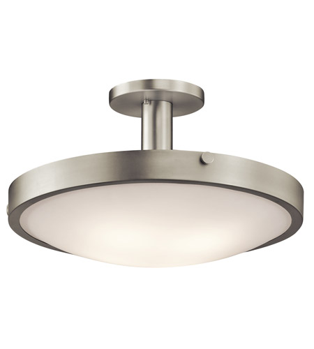 Kichler Lighting Lytham 4 Light Semi-Flush Mount in Brushed Nickel 42246NI photo