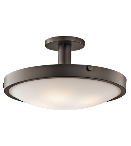 Kichler Lighting Lytham 4 Light Semi-Flush Mount in Olde Bronze 42246OZ photo