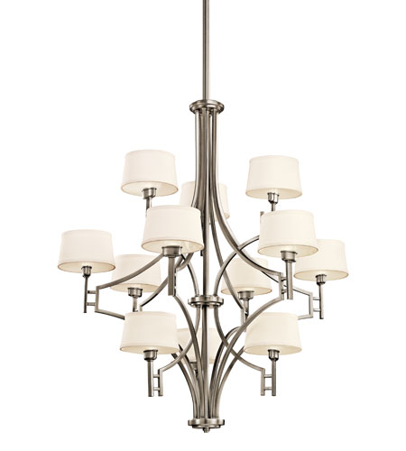 Kichler Lighting Quinn 12 Light Chandelier in Antique Pewter 42249AP photo