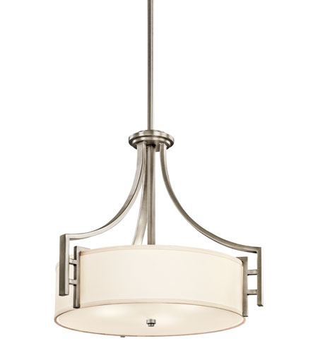 Kichler Lighting Quinn 3 Light Inverted Pendant in Antique Pewter 42252AP