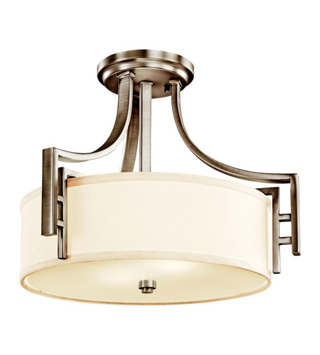Kichler Lighting Quinn 2 Light Semi-Flush in Antique Pewter 42253AP