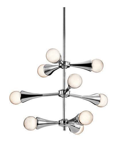 Kichler Lighting Lucien 9 Light Chandelier in Chrome 42256CH photo