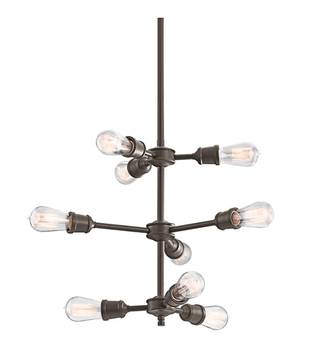 Kichler Lighting Lucien 9 Light Chandelier in Olde Bronze 42257OZ photo