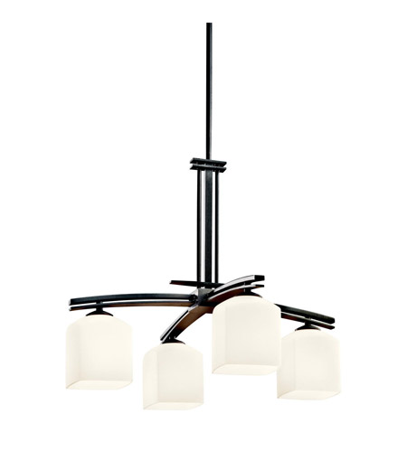 Kichler Lighting Brinbourne 4 Light Chandelier in Anvil Iron 42259AVI