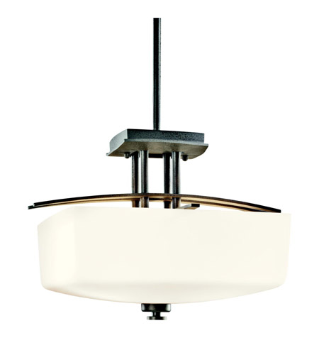 Kichler Lighting Brinbourne 3 Light Semi-Flush in Anvil Iron 42264AVI