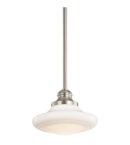Kichler Lighting Keller 1 Light Pendant Convertible Semi-Flush in Brushed Nickel 42268NI photo