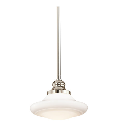 Kichler Lighting Keller 1 Light Pendant in Polished Nickel 42268PN