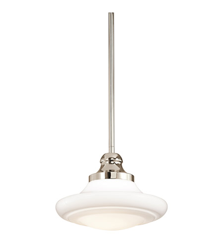 Kichler Lighting Keller 1 Light Pendant in Polished Nickel 42269PN
