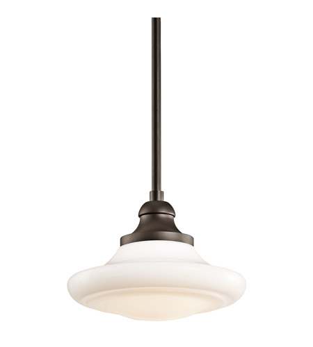 Kichler Lighting Keller 1 Light Pendant Convertible Semi-Flush in Olde Bronze 42270OZ