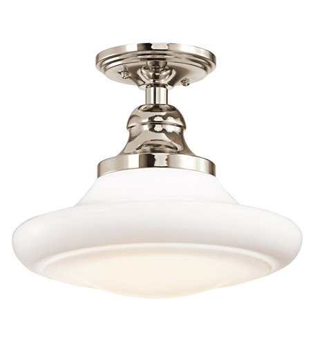 Kichler Lighting Keller 1 Light Pendant in Polished Nickel 42270PN photo
