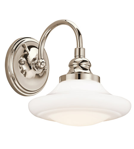 Kichler Lighting Keller 1 Light Wall Sconce in Polished Nickel 42271PN