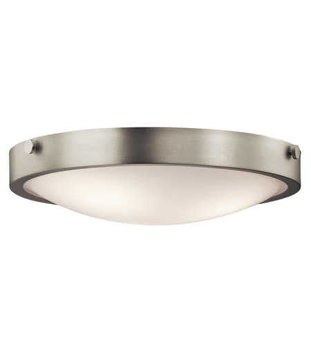 Kichler 42275NI Lytham 3 Light 18 inch Brushed Nickel Flush Mount Ceiling Light  photo