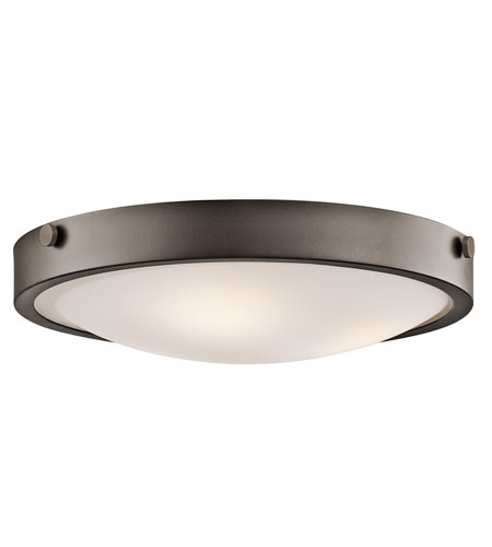 Kichler 42275OZ Lytham 3 Light 18 inch Olde Bronze Flush Mount Ceiling Light photo