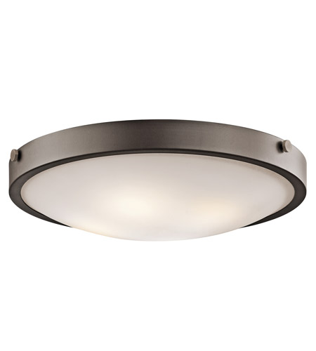 Kichler Lighting Signature 4 Light Flush Mount in Olde Bronze 42276OZ