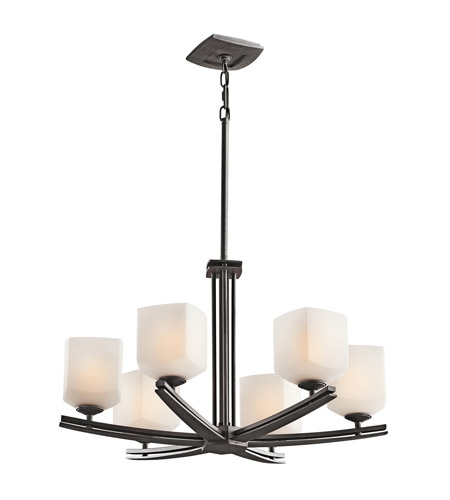Kichler Lighting Brinbourne 6 Light Chandelier in Anvil Iron 42293AVI