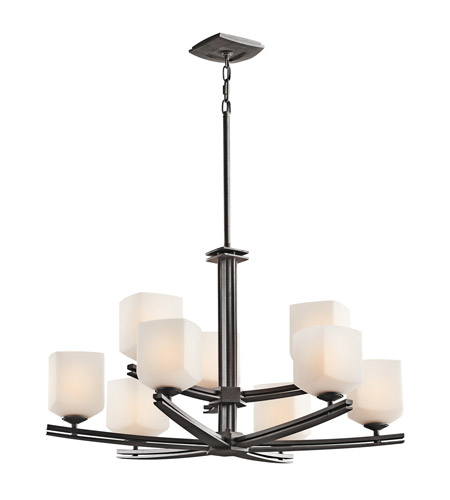 Kichler Lighting Brinbourne 9 Light Chandelier in Anvil Iron 42294AVI