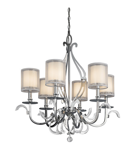 Kichler 42302CH Jardine 6 Light 31 inch Chrome Chandelier Ceiling Light photo