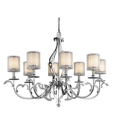 Kichler Lighting Jardine 8 Light Chandelier in Chrome 42303CH photo