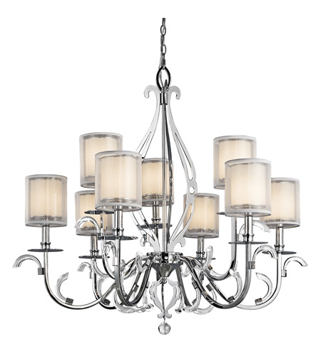 Kichler 42304CH Jardine 9 Light 39 inch Chrome Chandelier Ceiling Light photo