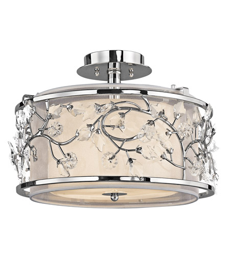 Kichler Lighting Jardine 3 Light Semi-Flush in Chrome 42306CH photo